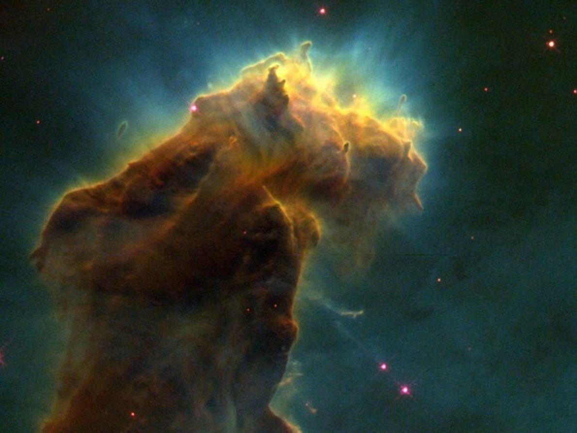 Pilares de gas de la Nebulosa del Águila