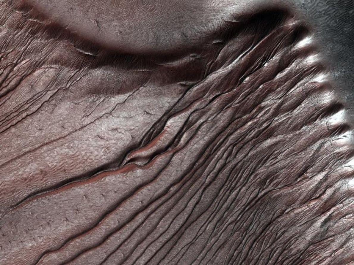 Las dunas del cráter Russel