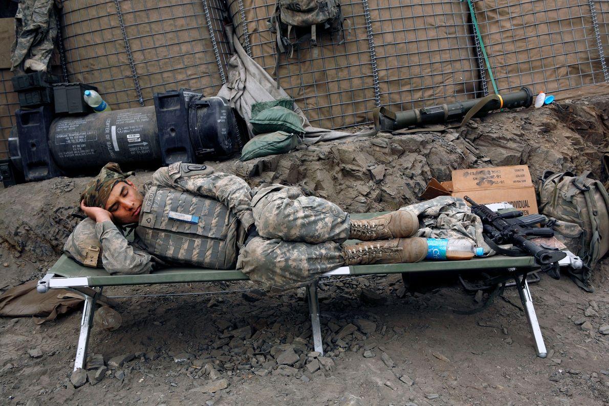 Soldado durmiendo