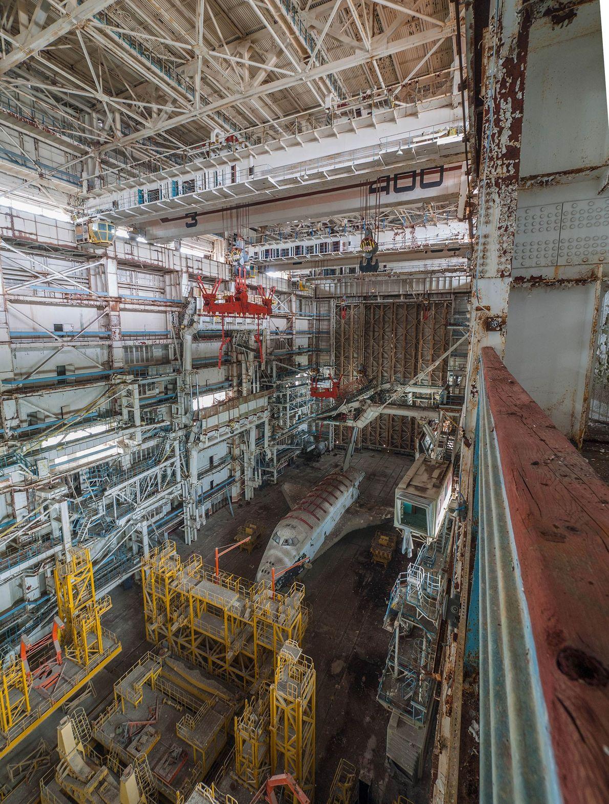 Imagen de un transbordador espacial ruso