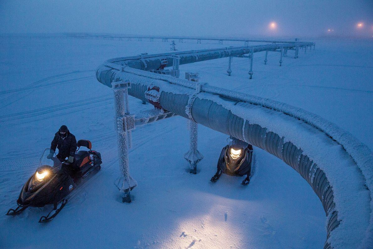 Campo de gas natural de Rusia