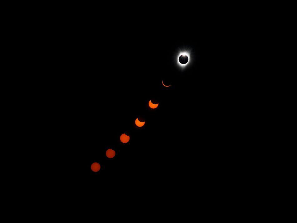 Estas son las mejores imágenes del eclipse solar, visto desde Estados Unidos