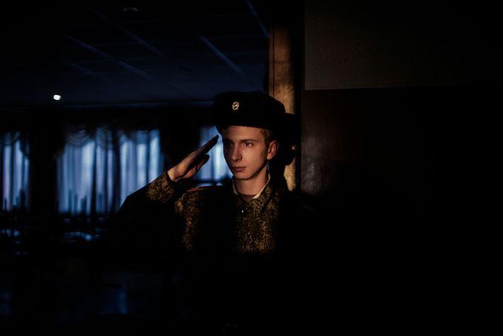 Un joven cadete