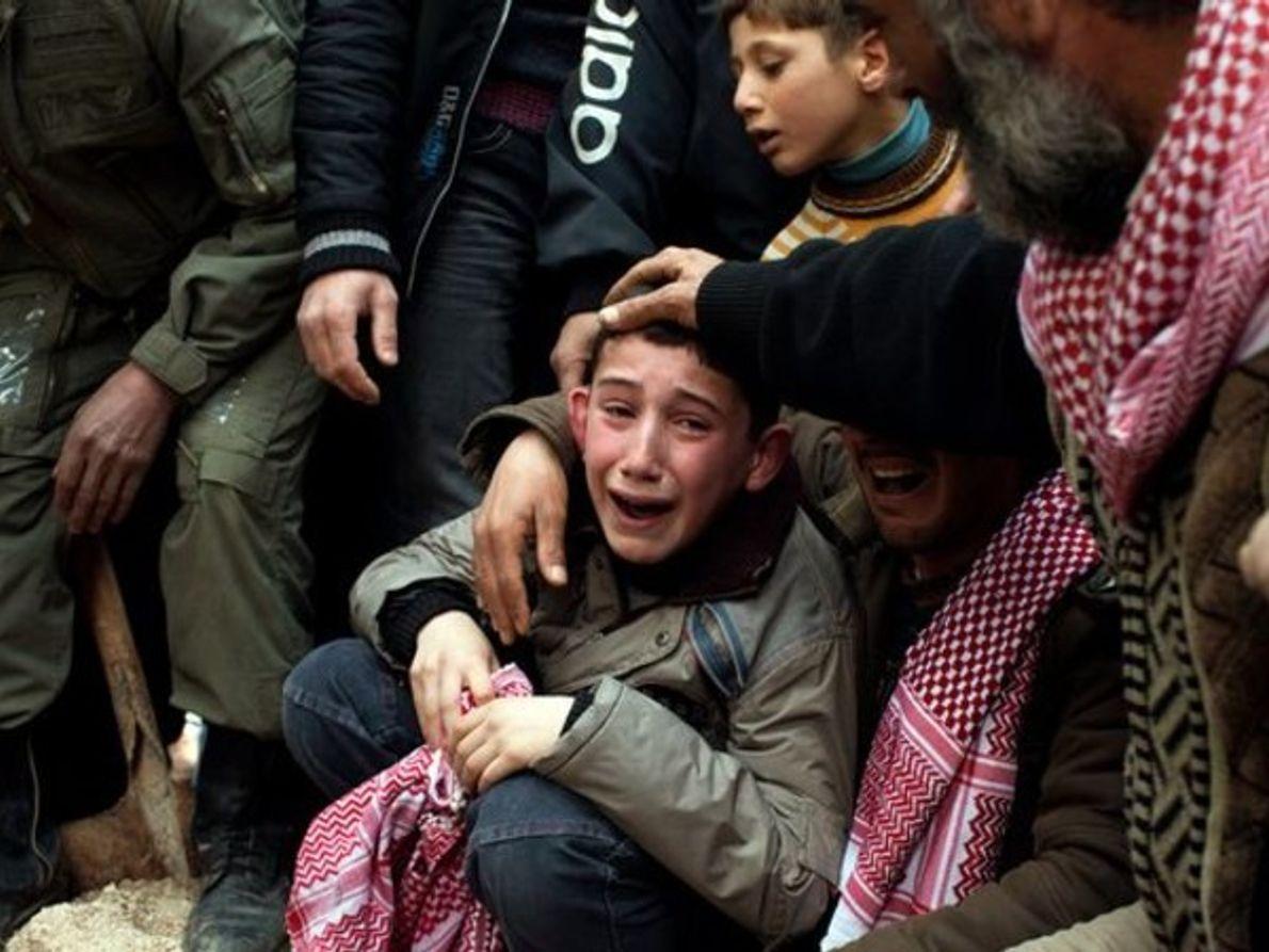La agonía de un niño