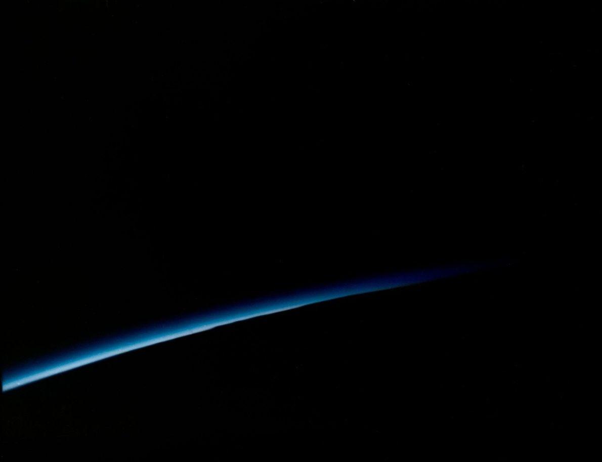 Foto de John Glenn desde el espacio