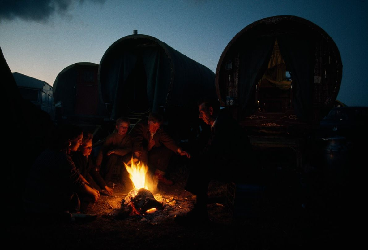 Familia de nómadas irlandeses