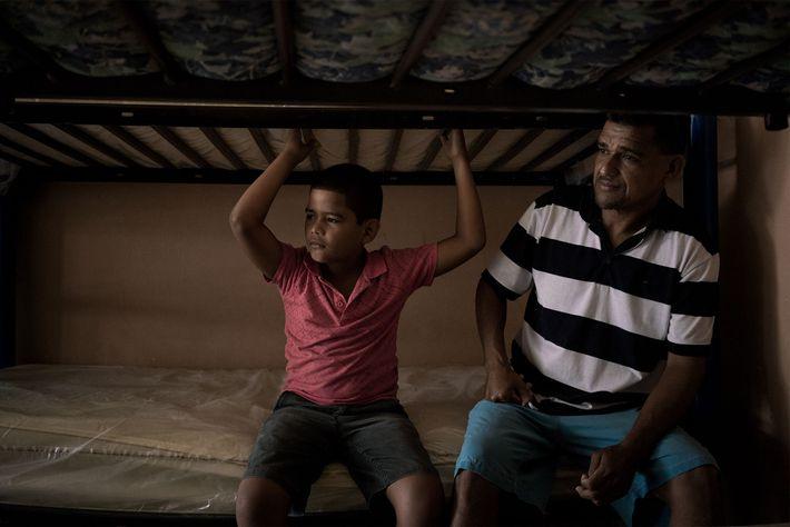 Luis Germán Ruiz y su hijo