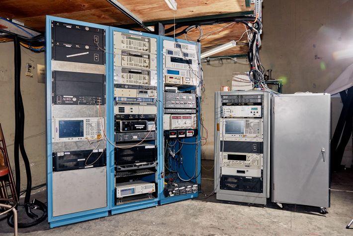 Un banco de ordenadores