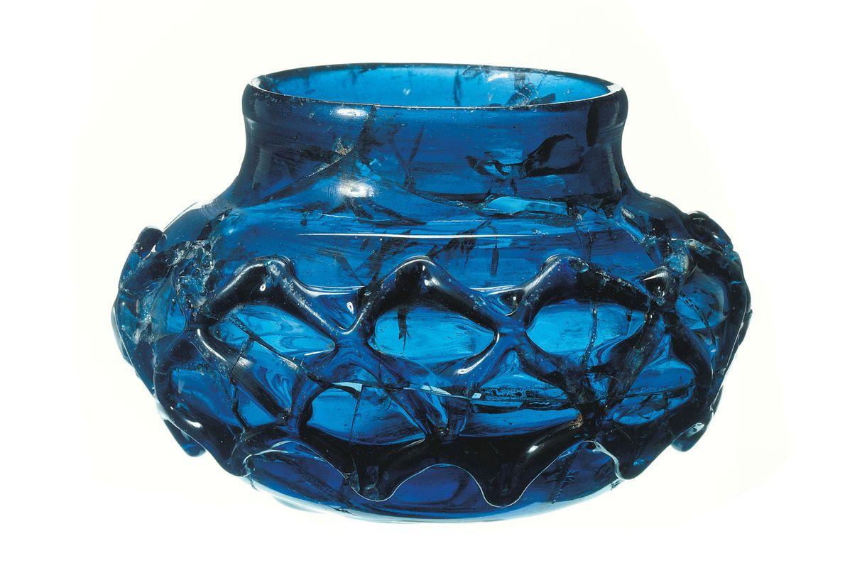 Vasijas de cristal azul