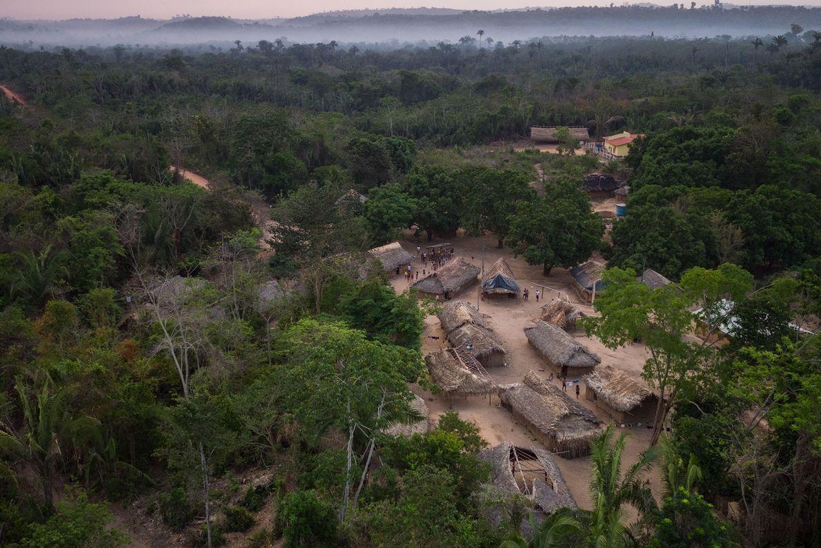 Las chozas de una comunidad indígena