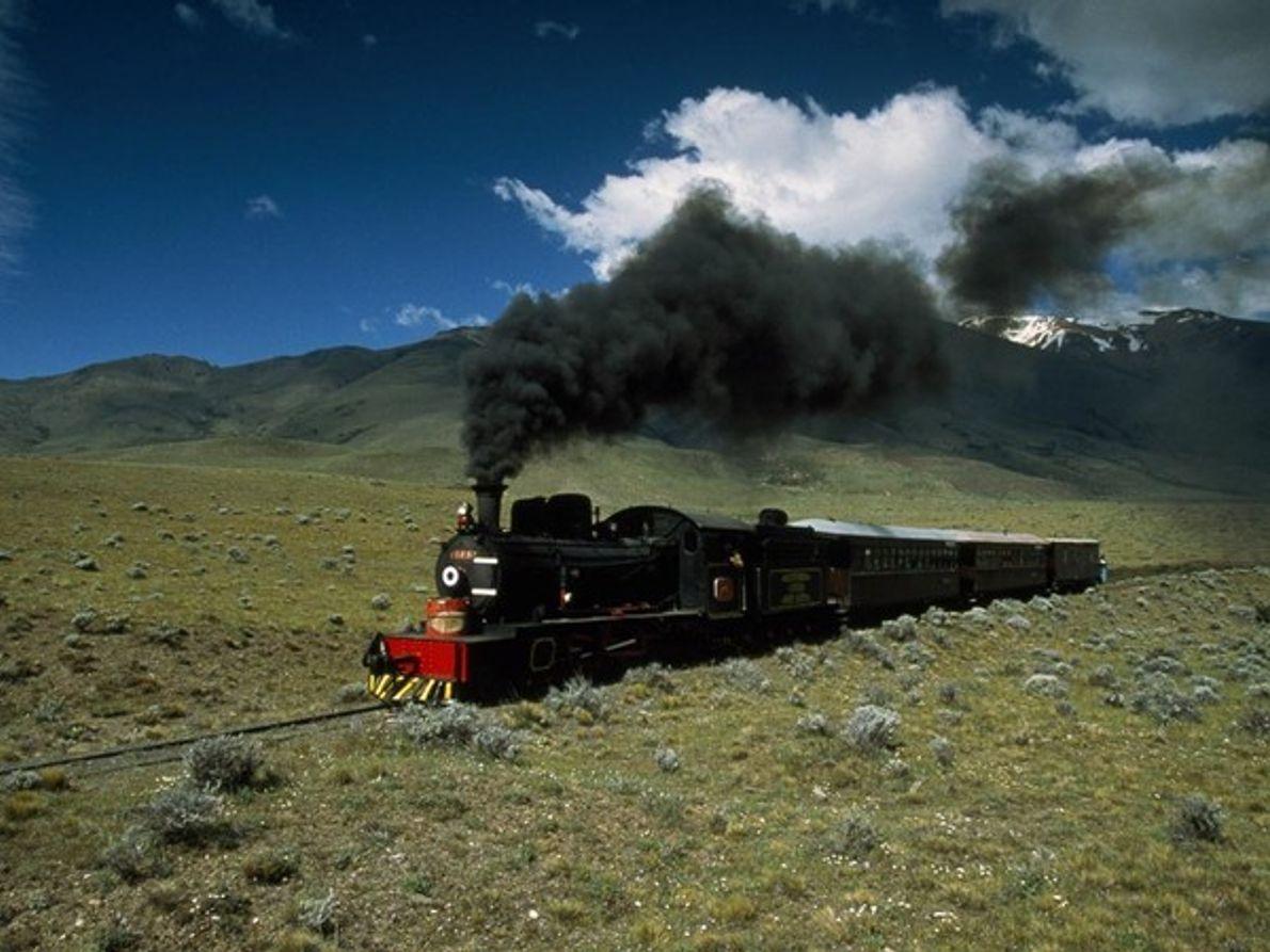 Tren en la llanura