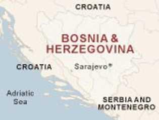 Mapa de Bosnia Herzegovina