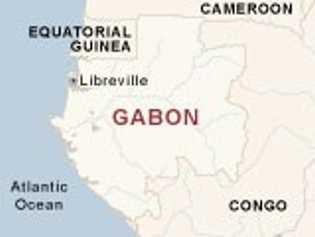 Mapa de Gabón