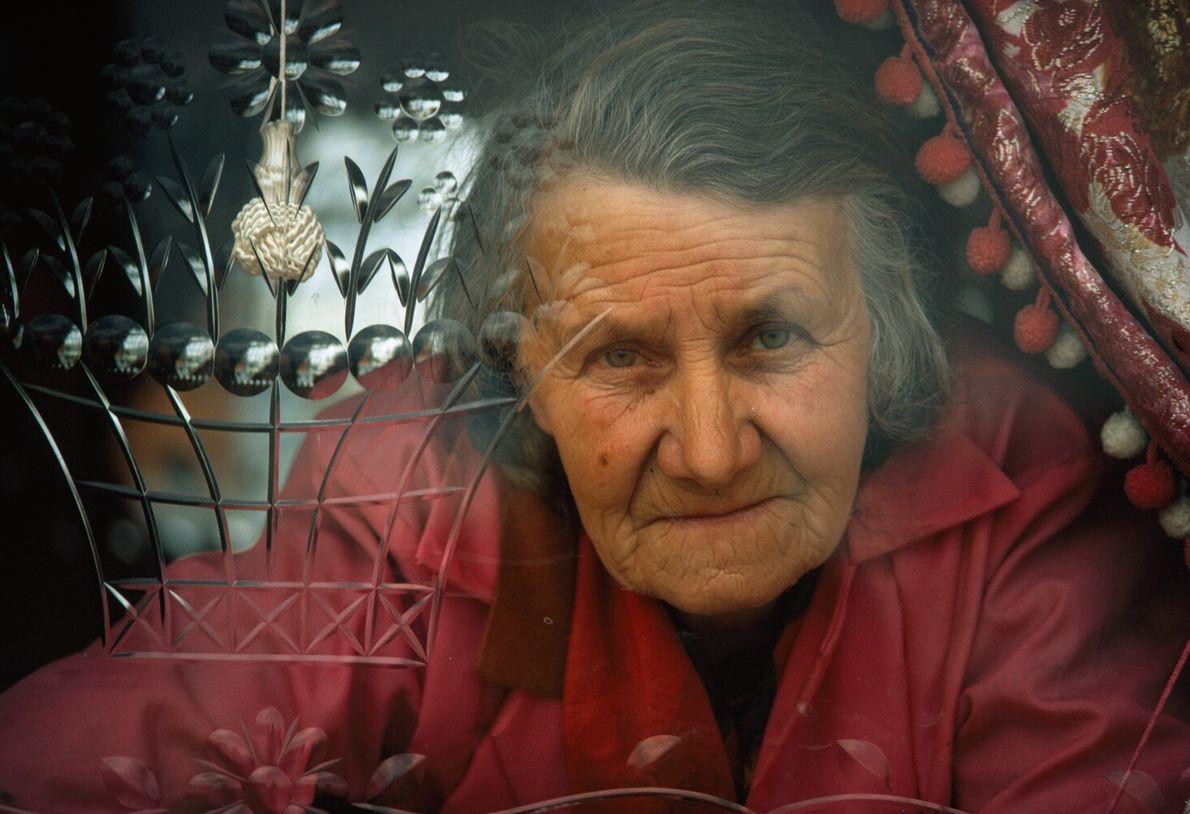 Una anciana nómada