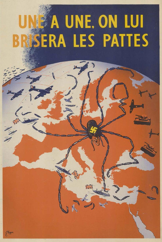 Los mapas propagandísticos solían representar a los líderes mundiales como arañas.