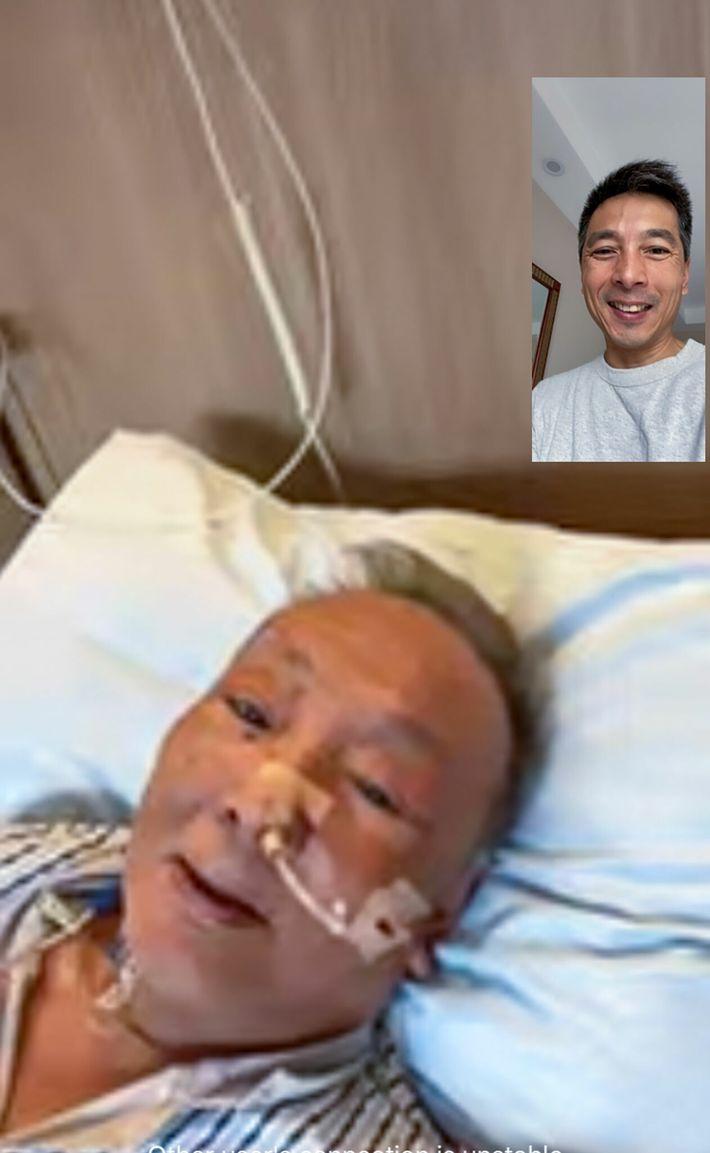Videollamada entre Jin y su padre