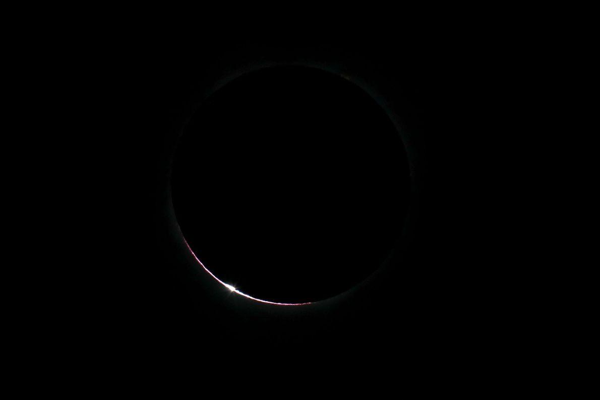 Eclipse solar desde la bahía Depoe