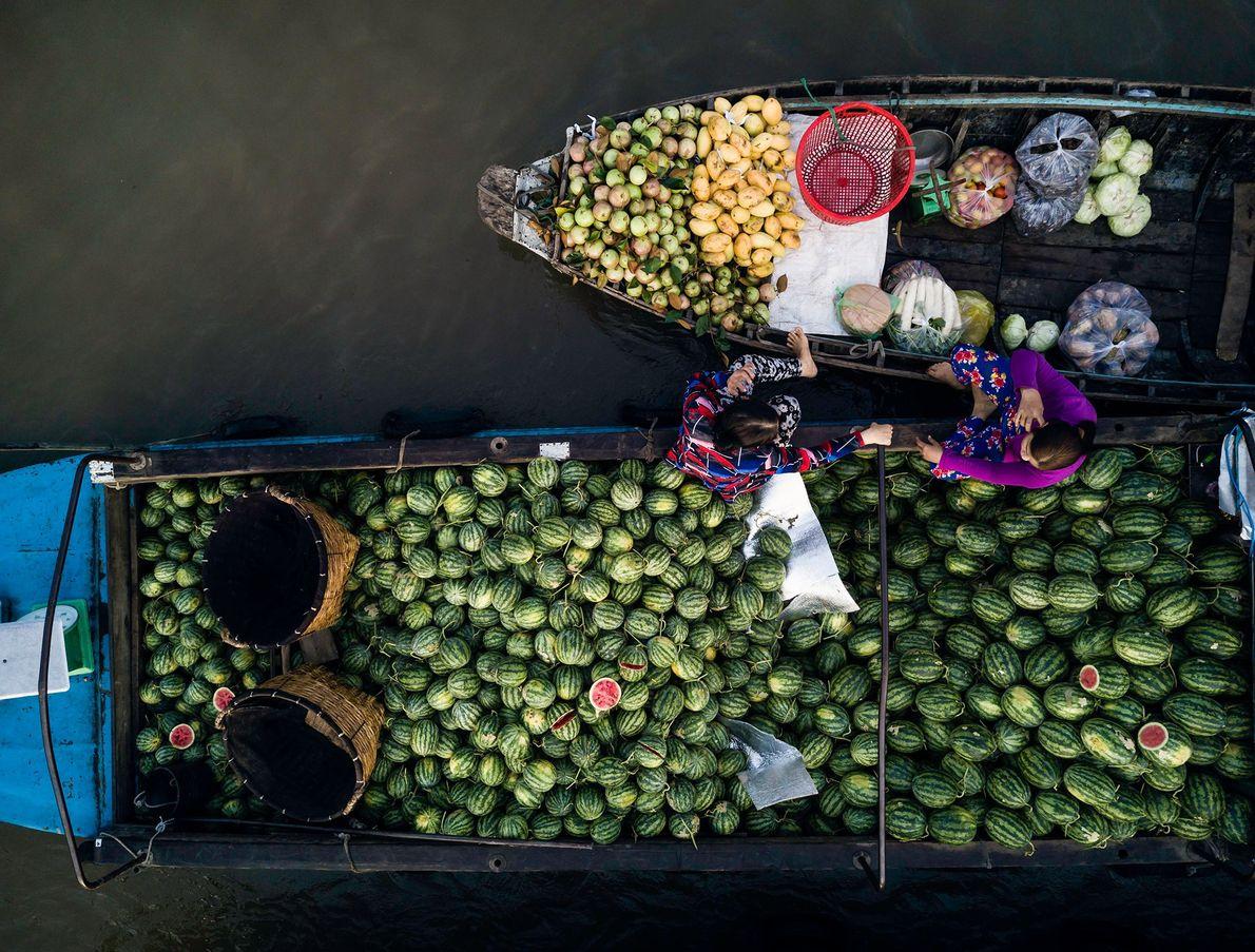 Mercado flotante de Phong Dien