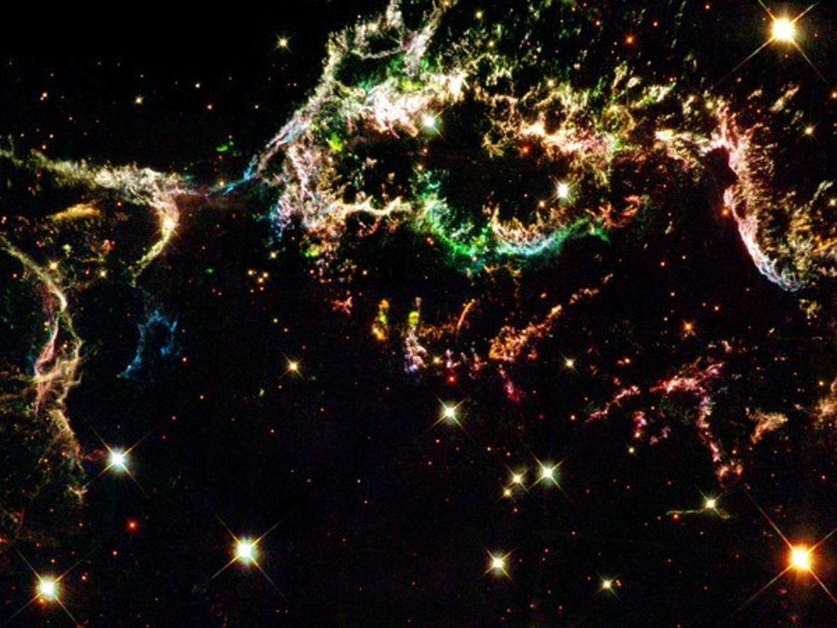 Remanentes de una supernova