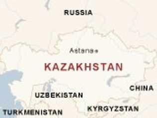 Mapa Kazajistán