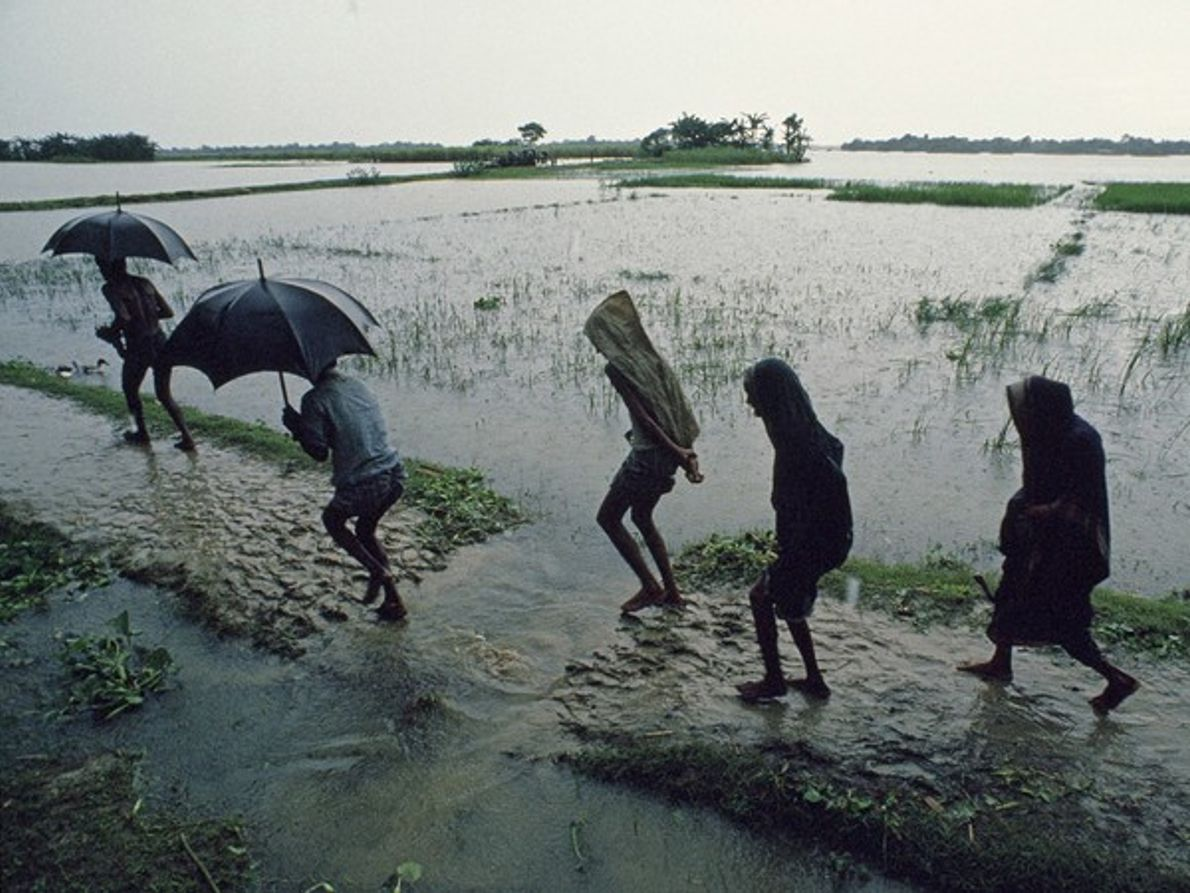 Cruzando la inundación