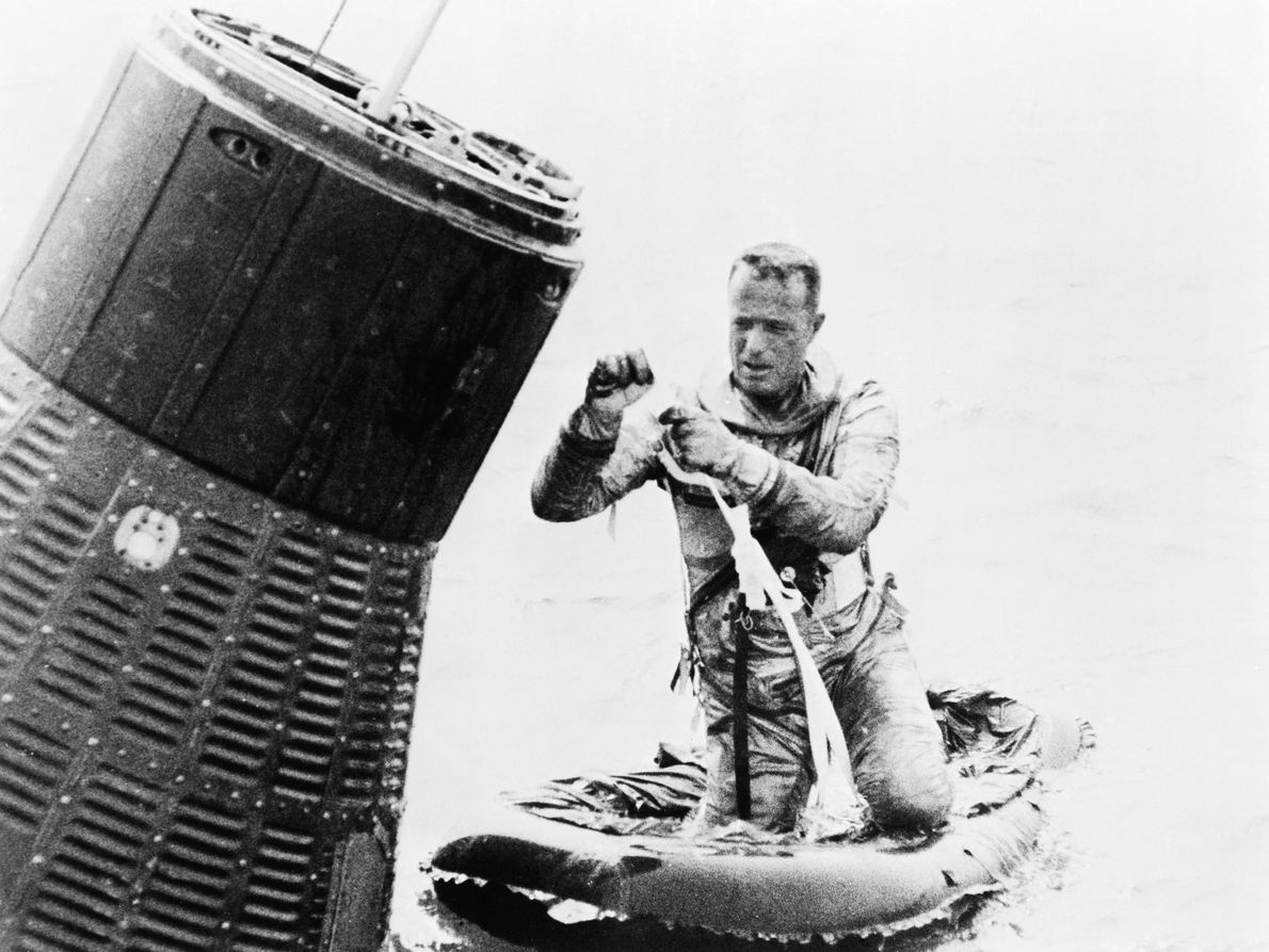 El astronauta Scott Carpenter