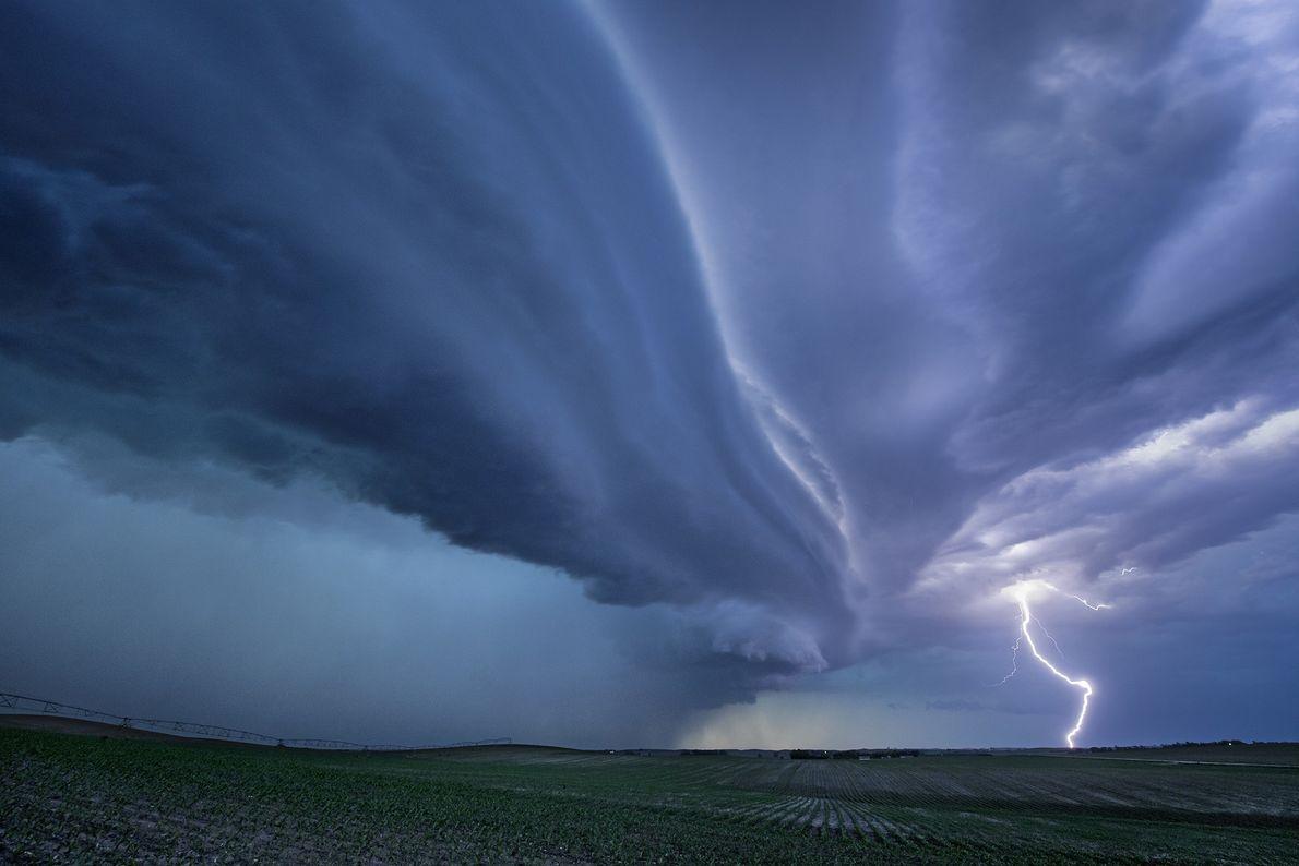 Una tormenta de supercelda
