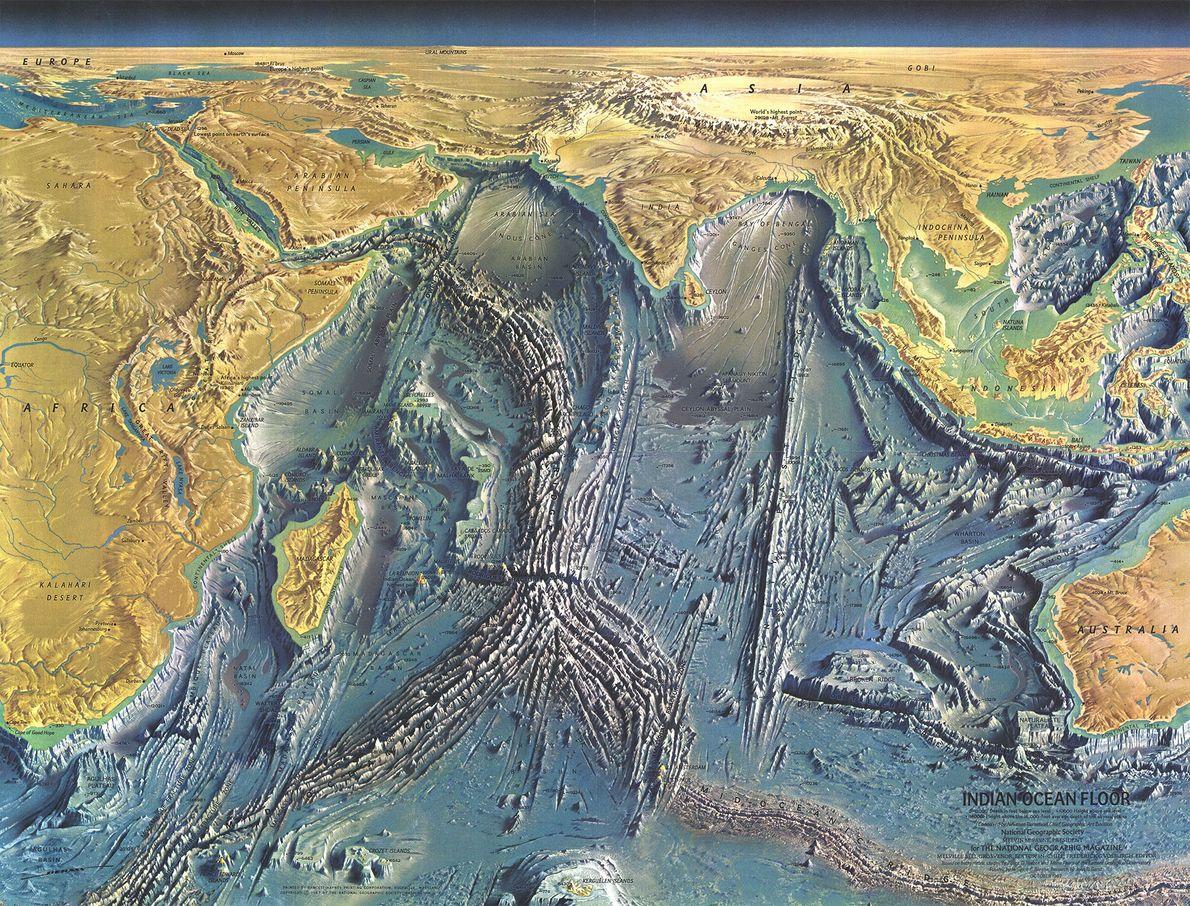 Lecho del océano Índico, 1967