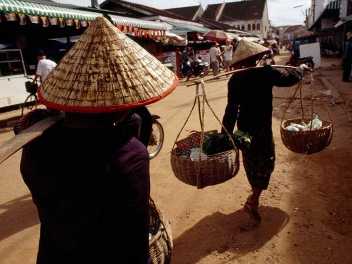 Granjeros camboyanos