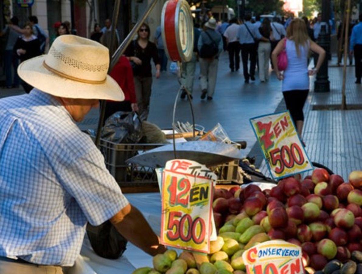 Carro de frutas (Santiago)