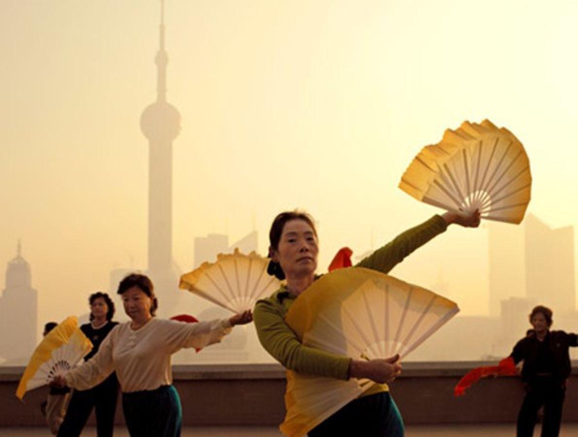 Ejercicios matutinos, Shanghái