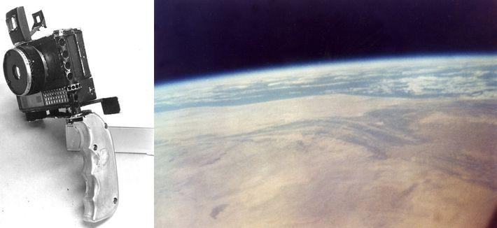 Cámara e imagen de John Glenn