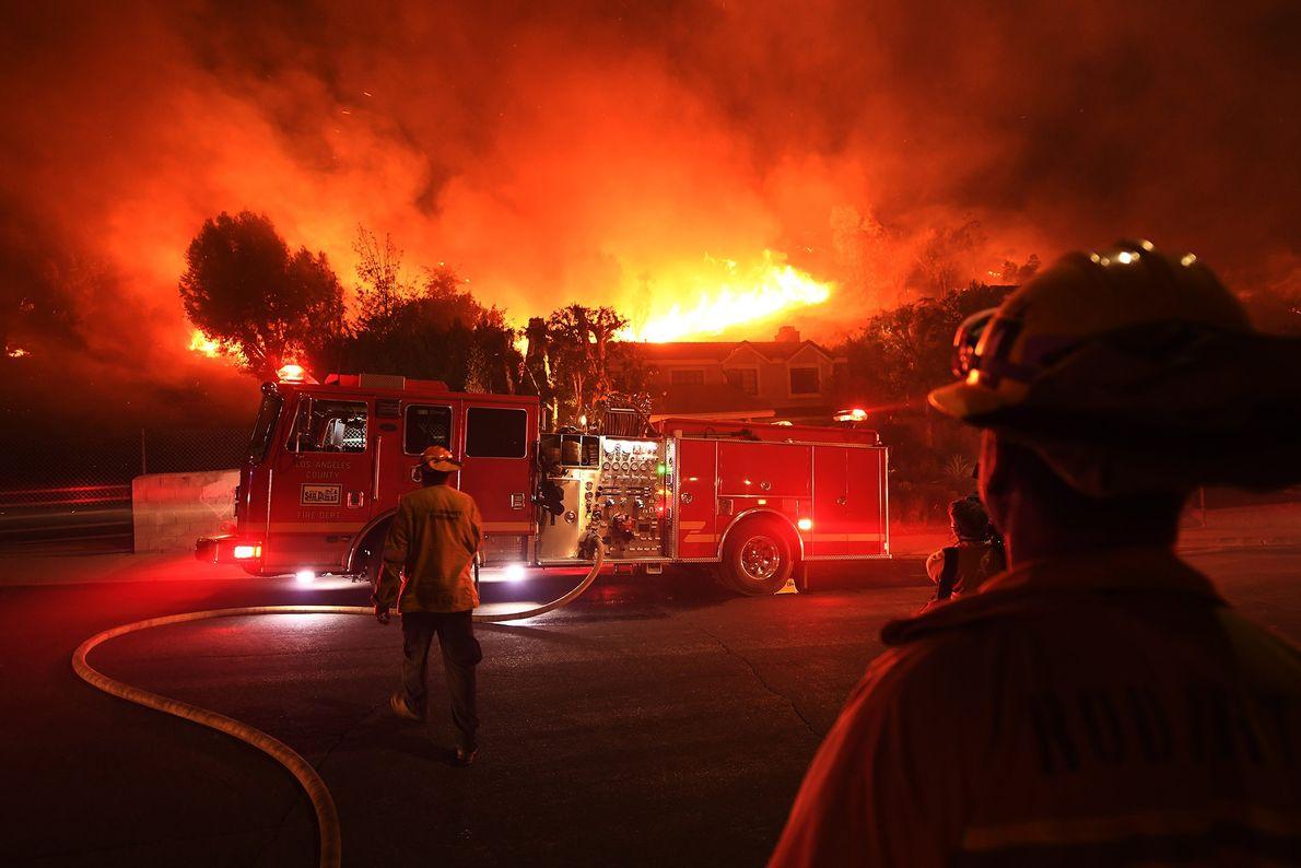 Los bomberos de Los Ángeles