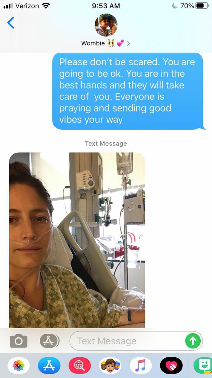 Mensajes entre Audrey y su familia