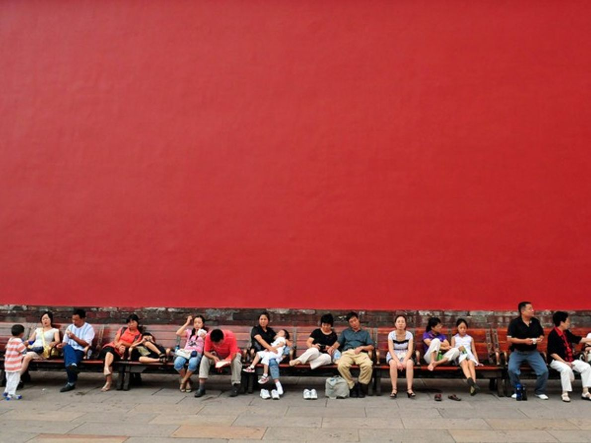 Turistas de Pekín