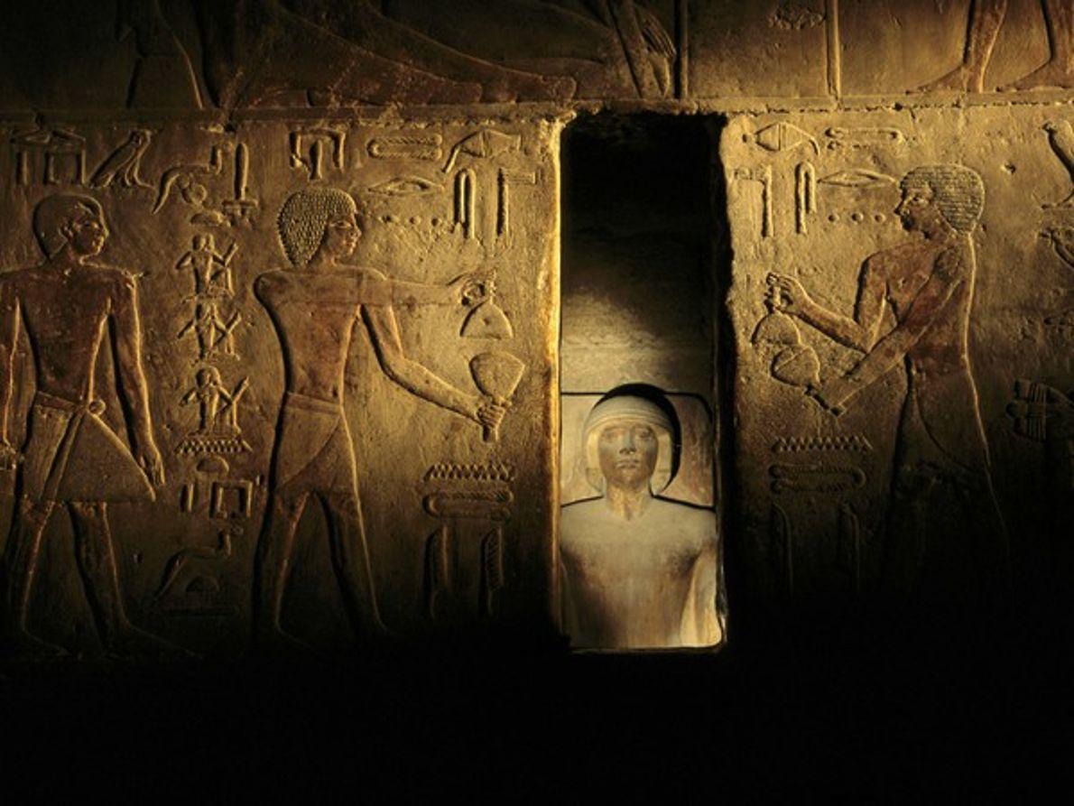 Estatua de faraón, Egipto