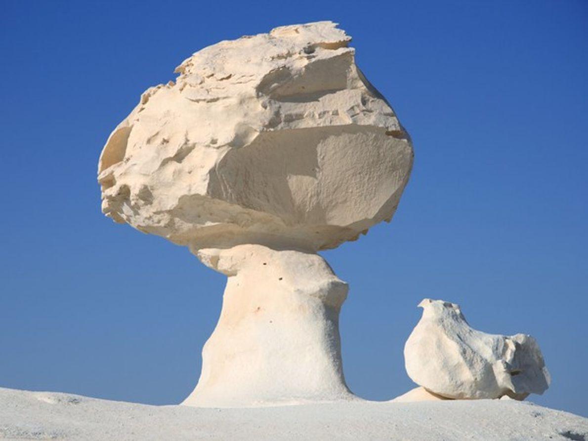 Formación rocosa en el oasis de Bahariya