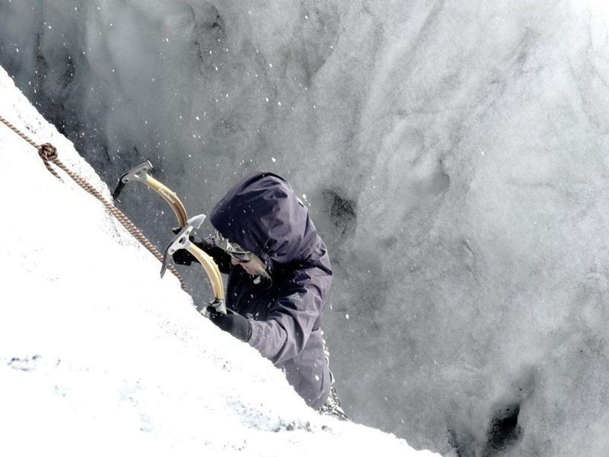 Una alpinista