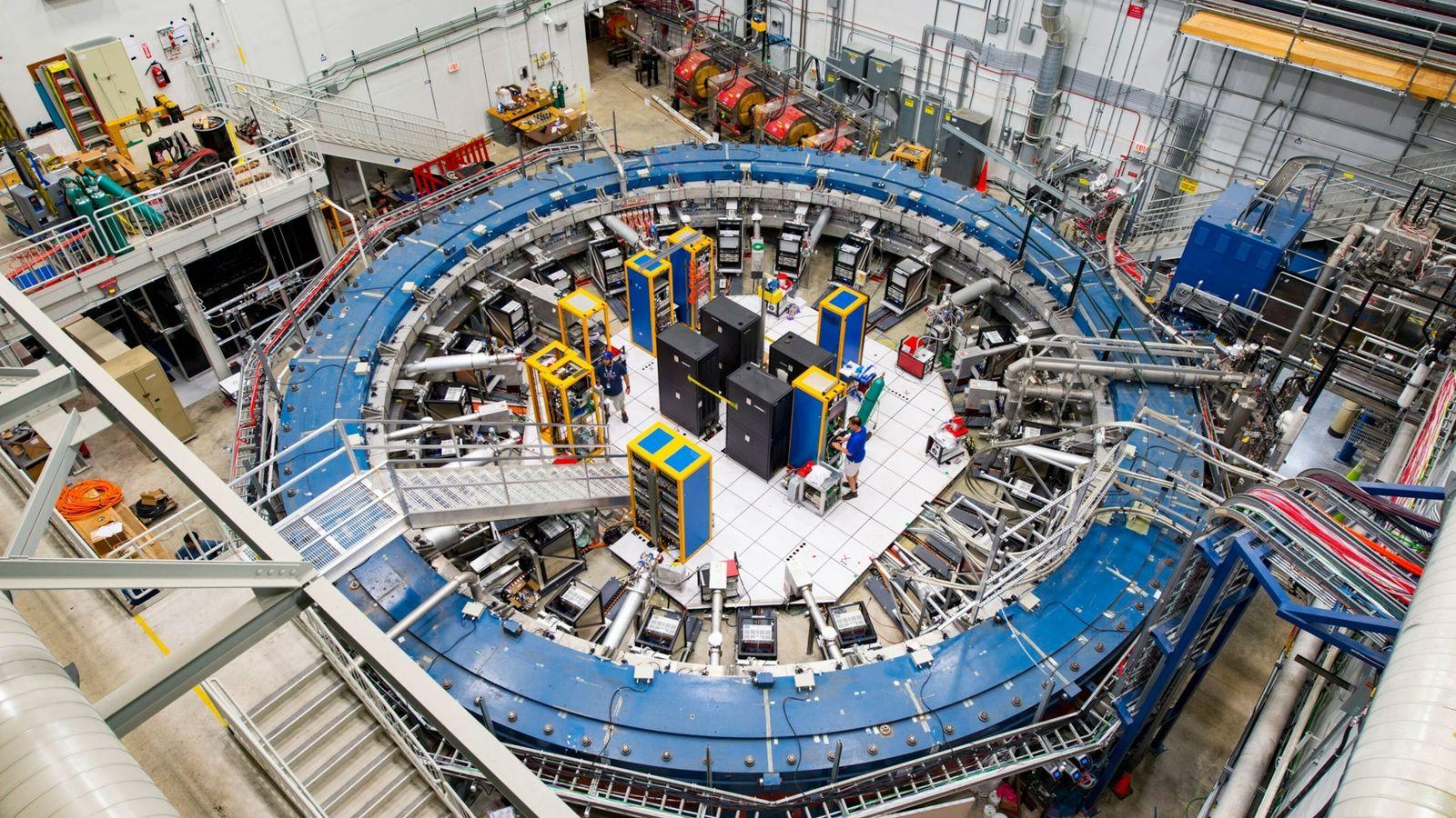 Imagen del anillo del experimento Muon g-2