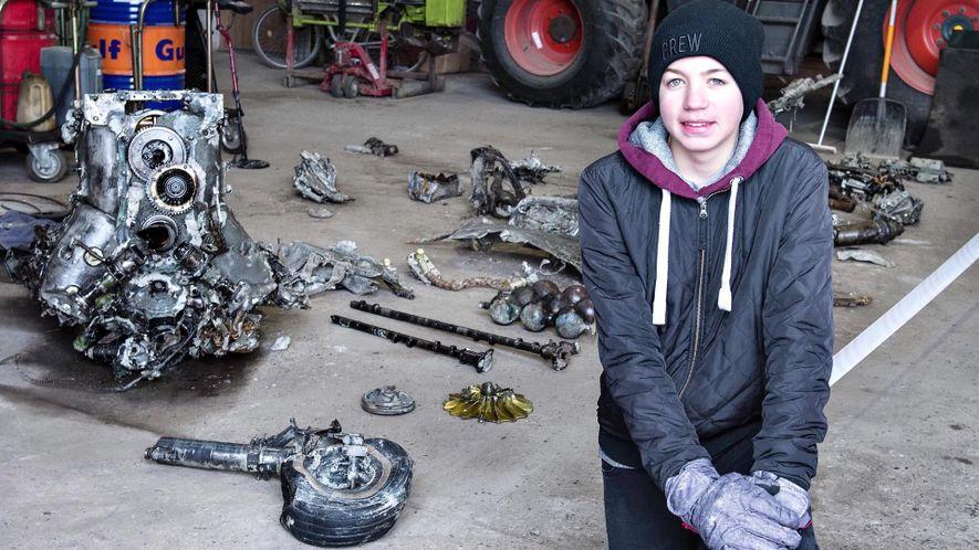 Este chico danés ha descubierto un avión alemán de la Segunda Guerra Mundial… y los restos ...