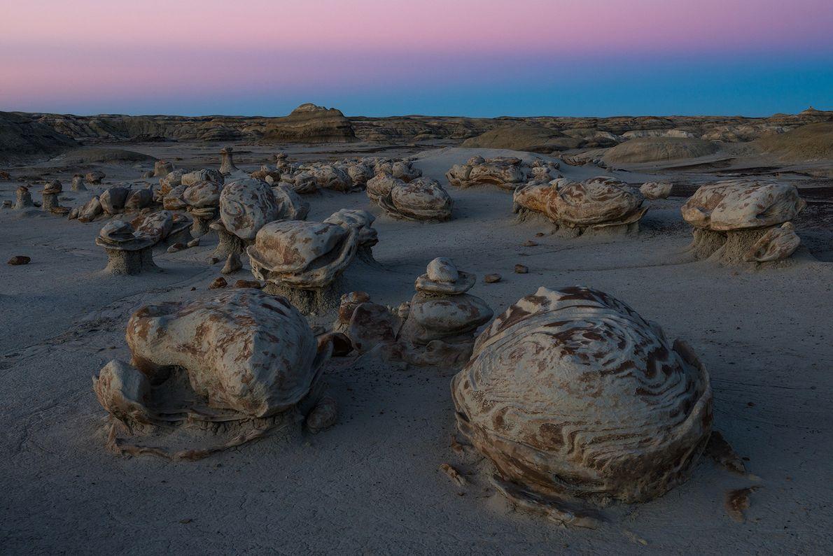 Imagen de formaciones rocosas en Nuevo México.
