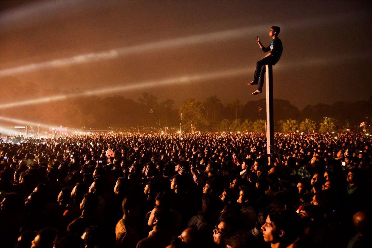 Imagen del concierto del Día de la Victoria en Bangladesh.