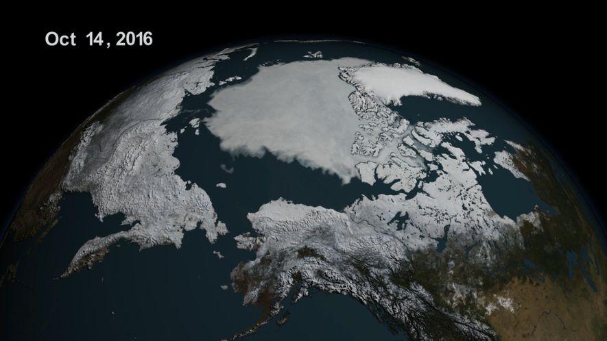 El nivel de hielo marino en el Ártico alcanza su mínimo histórico
