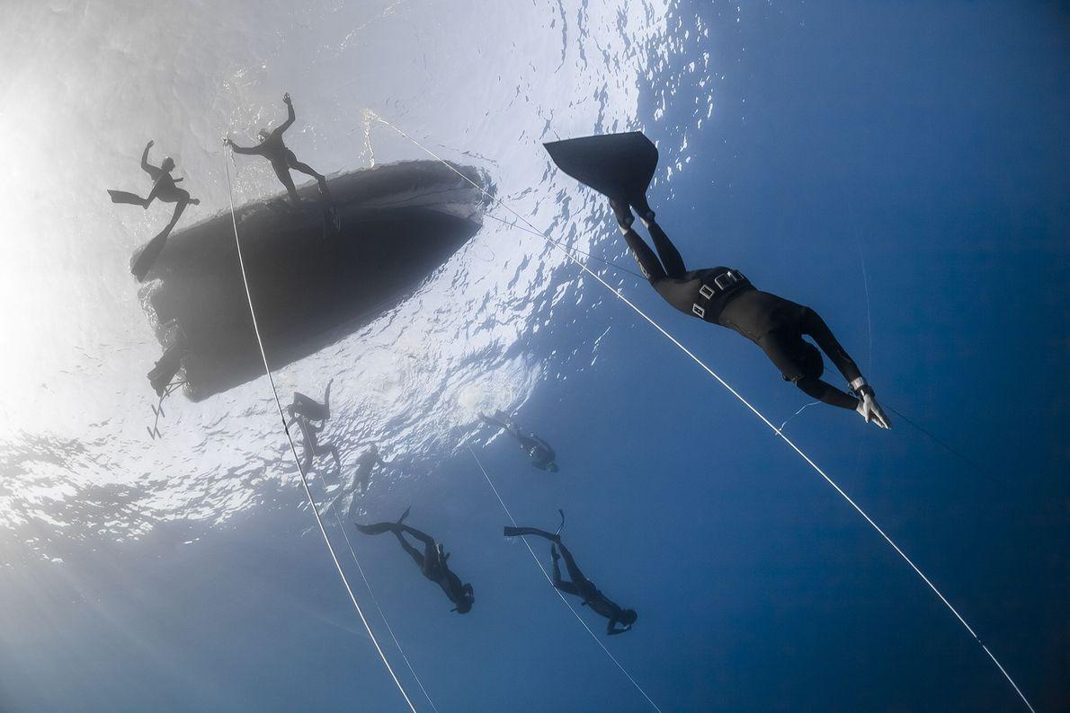 Imagen de un freediver en Francia.