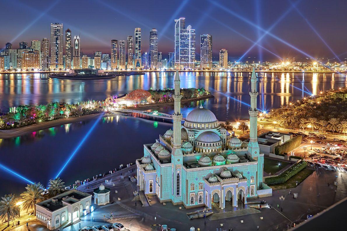 Imagen de Al Noor Mosque en Sharjah.