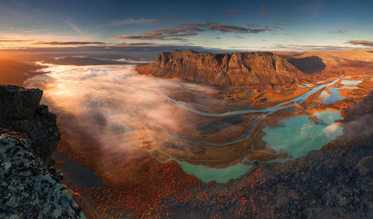 Imagen del Parque Nacional de Sarek en Suecia