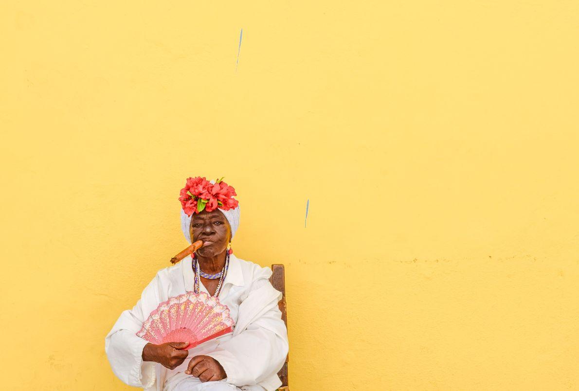 Imagen de una mujer cubana