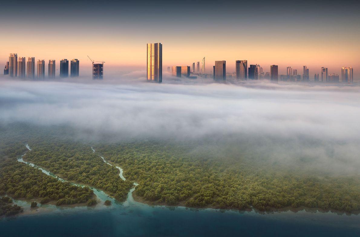 Imagen de Abu Dhabi al amanecer