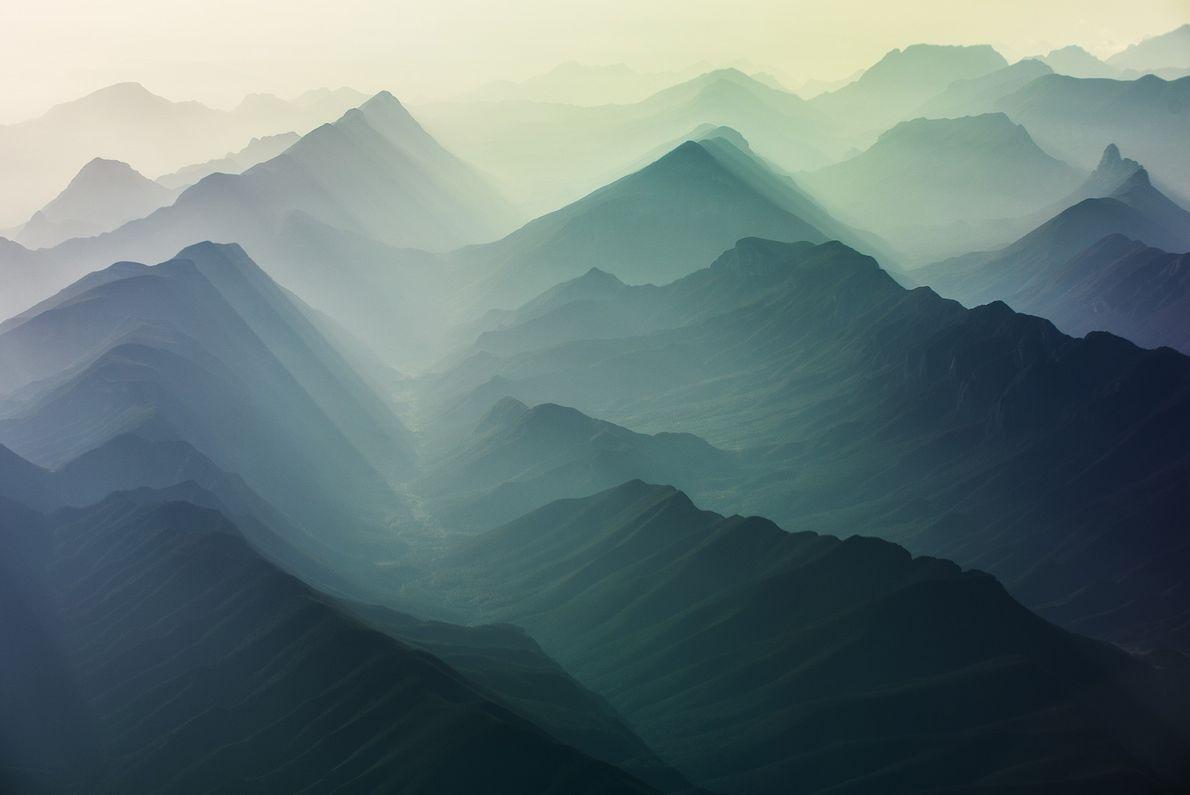 Imagen del sistema montañoso de Coahuila, México
