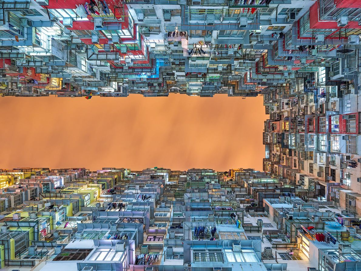 Imagen de un complejo de apartamentos en Hong Kong